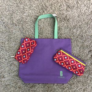NWT Clinique 3-pc Bag Set